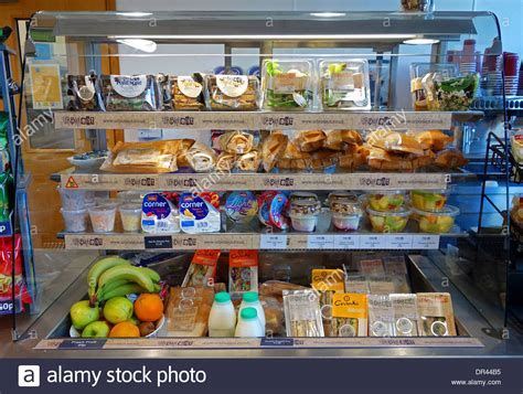 Cabinet Food Ideas For Cafe by A Take Away Food Display Cabinet In A Roadside Cafe Stock