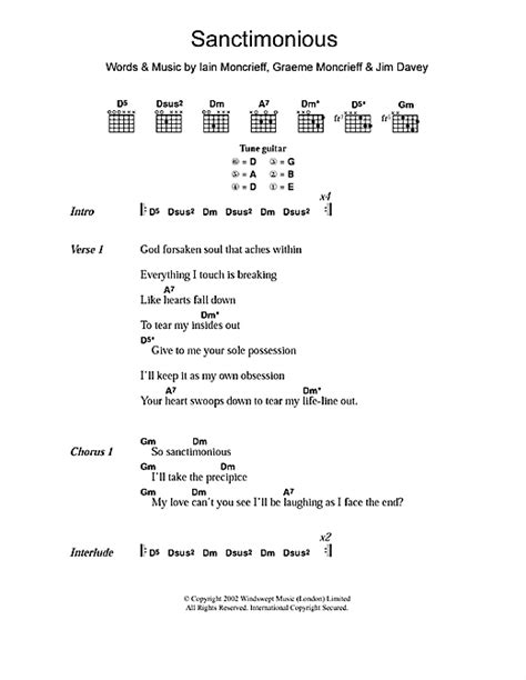 printable halo lyrics sanctimonious sheet music by halo lyrics chords 107594
