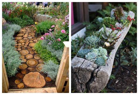imagenes de jardines con troncos decoraci 243 n con troncos ecodeco mobiliario