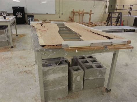 concrete and wood table 25 best ideas about concrete dining table on
