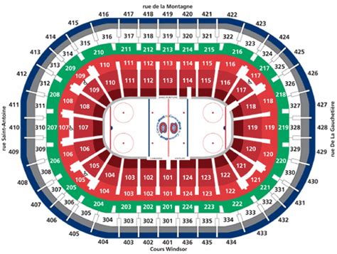 bell center seating chart gohabs the source for montreal canadiens hockey