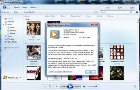 Teh Wmp windows media player 12 for vista