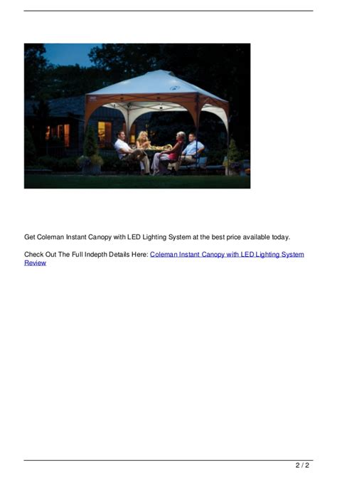 cvalley instant canopy with led lighting system coleman instant canopy with led lighting system review
