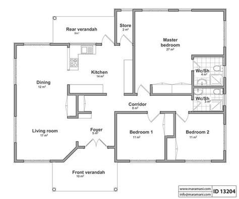 2 Bedroom Apartment Floor Plan Three Bedroom House Id 13204 Maramani Com