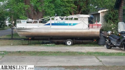 used pontoon boats for sale craigslist north ms armslist for sale 95 18 5 lowe pontoon boat fs ft