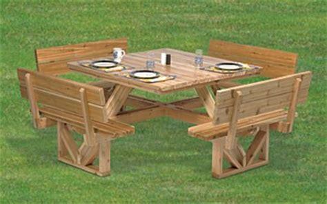 plan square picnic table  tabletop