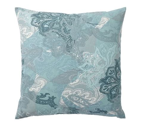 willow paisley print pillow cover pottery barn