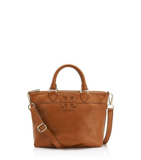 Small Satchel by Lyst Burch Stacked T Small Satchel In Brown