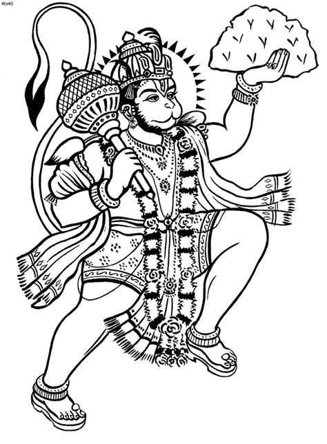colour my sketchbook 5 154716218x kathakali outline hanuman coloring book hanuman kerala mural hanuman colour
