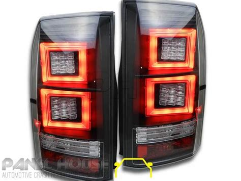 taillight upgrade led lr suits land rover discovery   black vogue style aftermarket