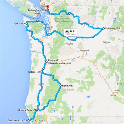 road map nw usa motherofallroadtrips