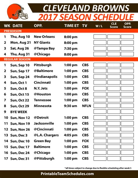 cleveland browns 2015 regular season schedule the
