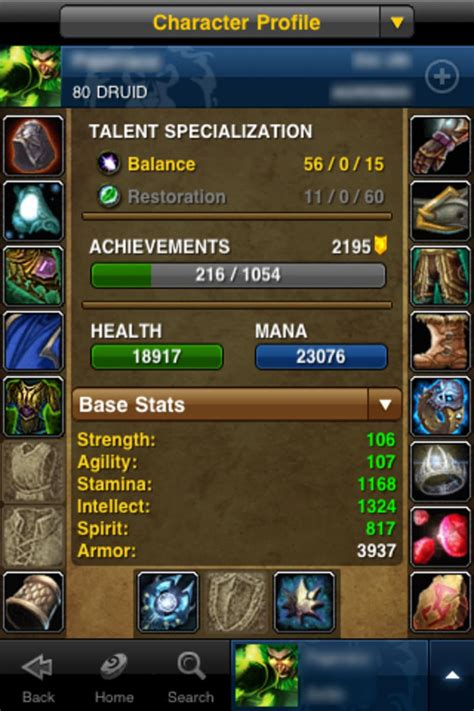 wow mobile app world of warcraft mobile armory para iphone descargar