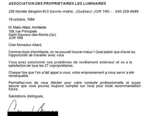 Lettre De Remerciement Québec Mario Allard Architecte Principaux Clients Et T 233 Moignages