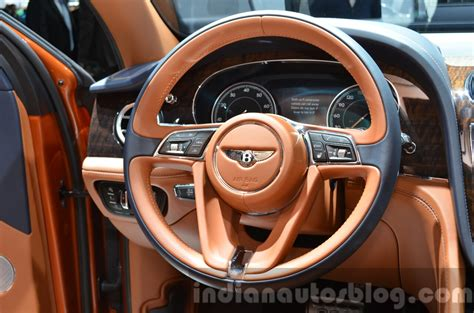 bentley steering wheel at bentley bentayga steering wheel at the iaa 2015