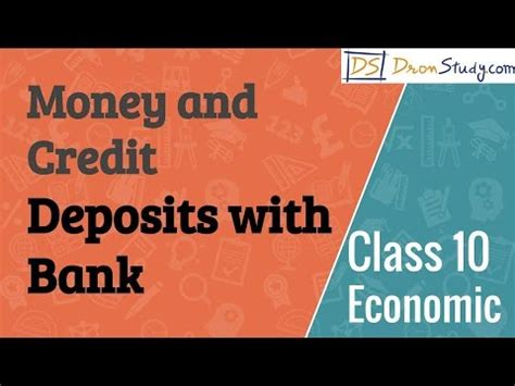 Formal And Informal Credit Class 10 Deposits With Bank Money And Credit Cbse Class 10 X Economics
