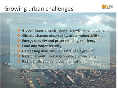 urbanization challenges growing challenges