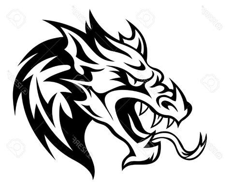 tribal tattoo dragon vector illustration best 15 danger dragon head for tattoo vector illustration