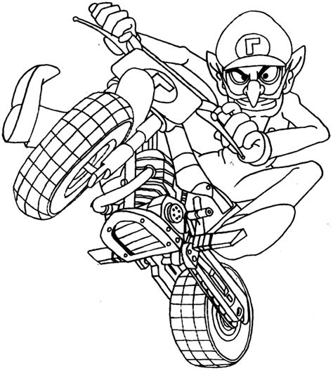 luigi kart coloring pages coloring pages