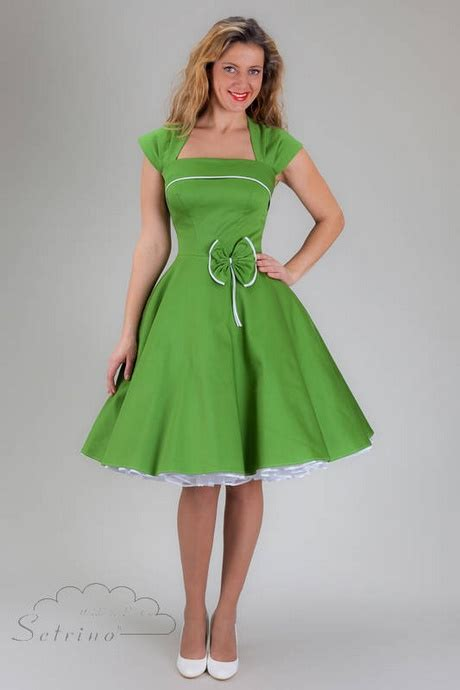 kleid knielang gruen
