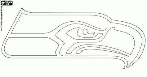Seattle Seahawks Logo Print It Seahawks Seattle Seahawk Coloring Pages