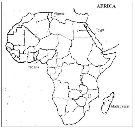 best photos of africa political map outline outline map