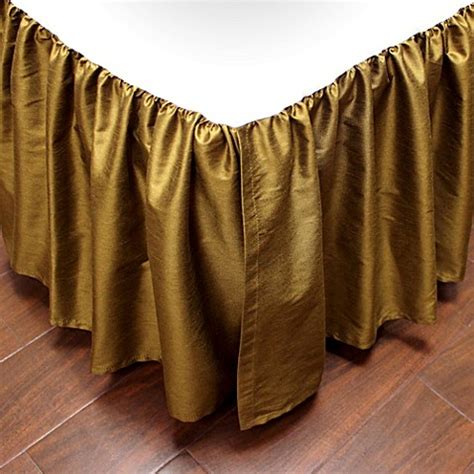 california king bed skirt buy austin horn classics verona california king bed skirt in gold from bed bath beyond
