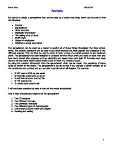 Letter For School Tuckshop Gcse Ict Coursework Spreadsheets Defenddissertation X Fc2