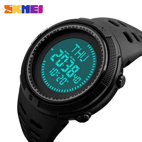Senter Jam Tangan Digital Swat Kompas skmei jam tangan kompas digital pria 1254 black jakartanotebook