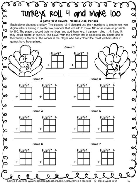 thanksgiving coloring pages for second grade 18 best images about addition of larger numbers on