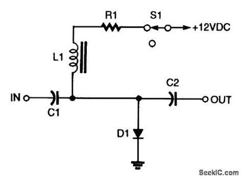 pin diode test shunt pin diode rf switch basic circuit circuit diagram seekic