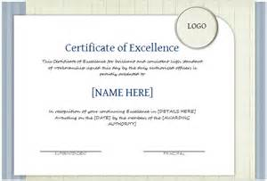 certificate of excellence template word doc 1040720 certificate of excellence template formal