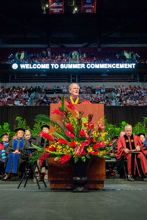Fsu Mba Hospitality by Coach Martin Inspires Graduates To Look To The Future And