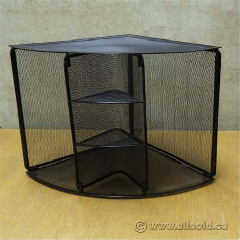 Desk Corner Organizer Rolodex Black Mesh Unique Corner Desk Organizer Allsold Ca Buy Sell Used Office Furniture