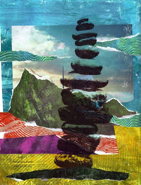 Landscape Inspiration cool beach collage priscilla read art journey