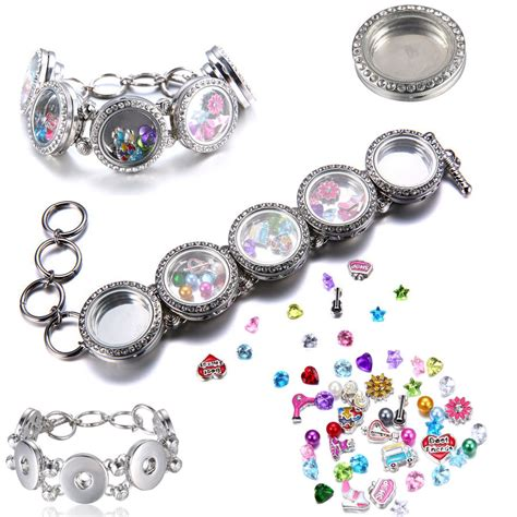 jewelry charms new floating charms locket snap it chunk button for snap