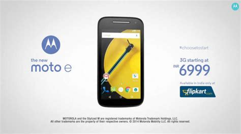 moto e mobile price motorola moto e 2015 3g variant to be sold in india on