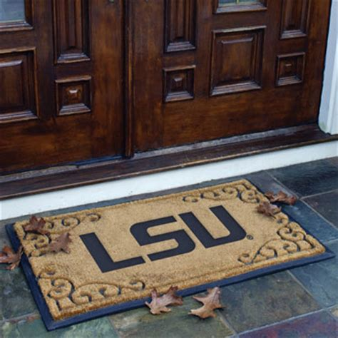 College Doormats lsu louisiana state tigers ncaa college rectangular outdoor door mat