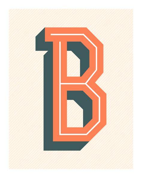 The Letter B Original Print Typography Alphabet