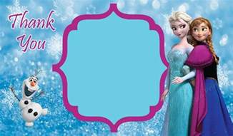 thank you card frozen theme