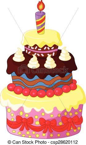 torta clipart torta compleanno cartone animato torta compleanno