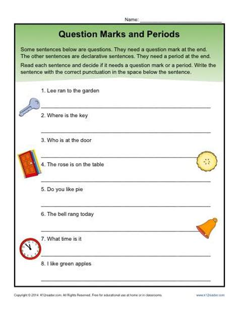 free printable question mark worksheets question marks and periods question mark worksheets and