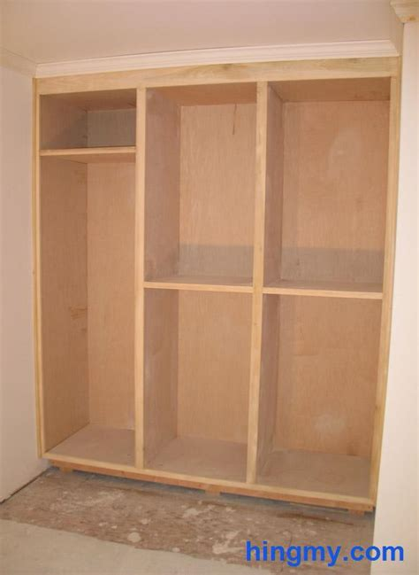 How To Build A Wardrobe Frame by Built In Closet Frame Construction