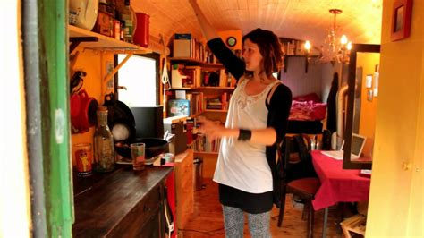 Tumbleweed Homes Interior Gypsy Wagon Tiny House Tour In Germany Recycled Dumpster