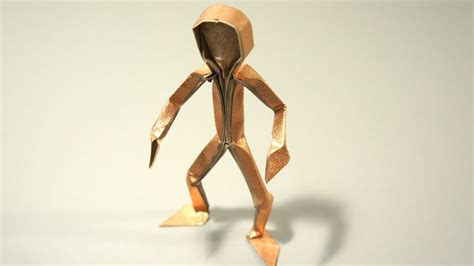 How To Make A 3d Paper Person - origami figura humana claudio acu 241 a j