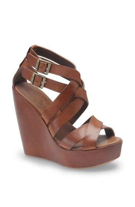 Wedges On Brown brown leather wedges footwear wedges