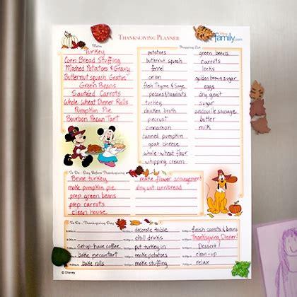 printable thanksgiving dinner planner mickey minnie s thanksgiving planner disney family
