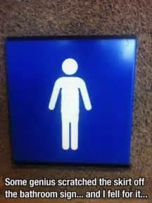 bathroom signs dump a day