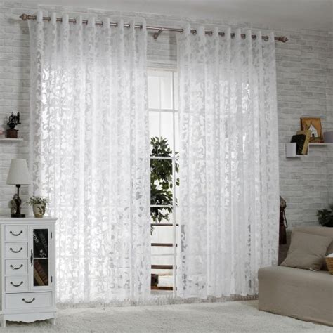 bleaching curtains r lang solid grommet top modern embroidered sheer curtain