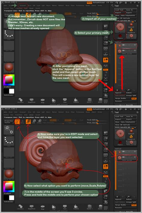 Zbrush Subtool Tutorial | zbrush subtool basic tut by sespider on deviantart